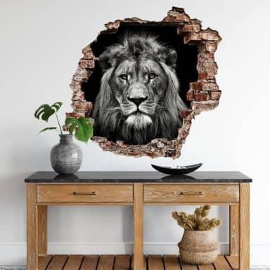 3D Muursticker Meermann - Leeuw