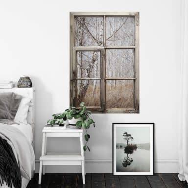 3D Wandtattoo Shabby Fenster Wasinger - Birkenwald