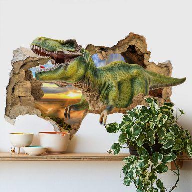 3D Muursticker T-Rex
