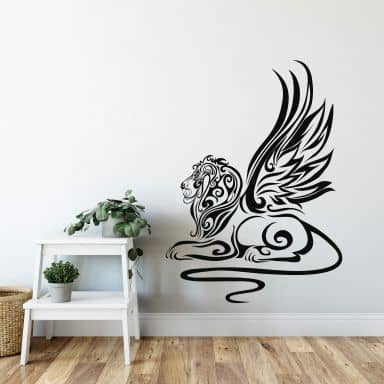 Sticker mural - Tribal Lion