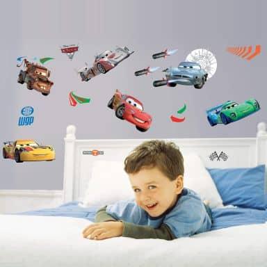 Muursticker Set Disney Cars