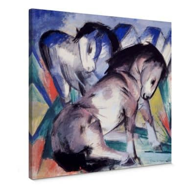 Leinwandbild Marc - Zwei Pferde - quadratisch