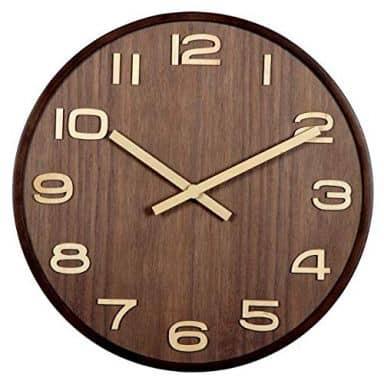 Moderne Holz Wanduhr Holzzeiger Ziffernblatt Zahlen Ø40 cm