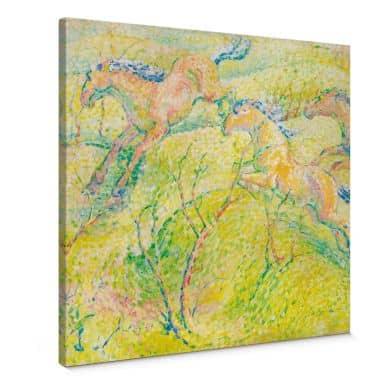 Franz Marc - Jumping Horses Canvas print