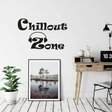 Muursticker Chill-out Zone 2