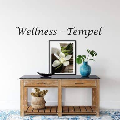 Wandtattoo Wellness-Tempel