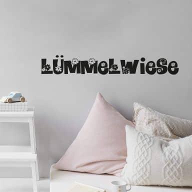 Wandtattoo Lümmelwiese