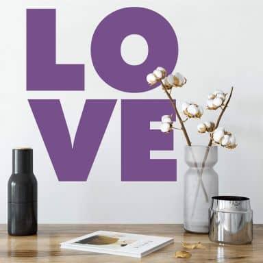 Muursticker Love