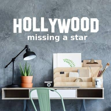 Sticker mural - Hollywood Missing