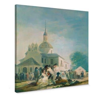 Leinwandbild de Goya - Die Einsiedelei des hl. Isidor