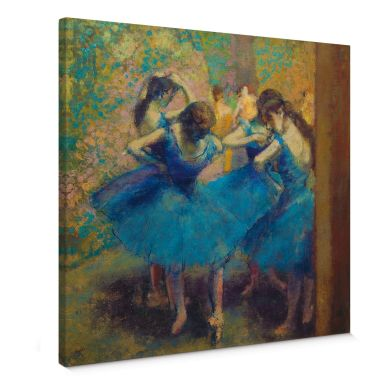 Leinwandbild Degas - Die blauen Tänzerinnen