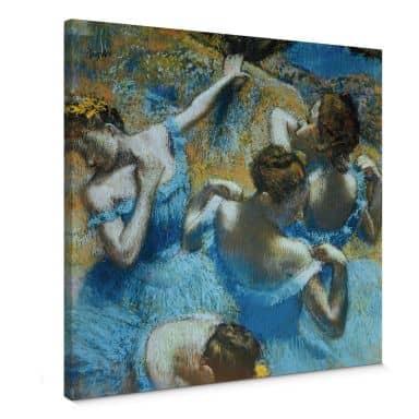 Leinwandbild Degas - Tänzerinnen in blauen Kostümen