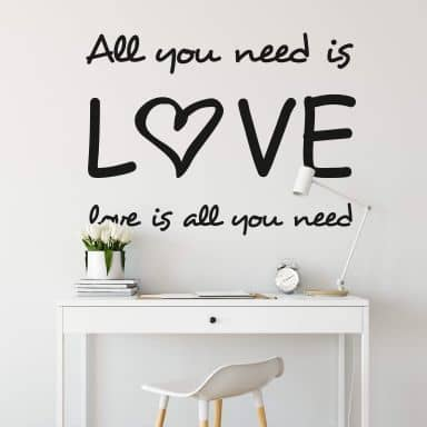 All you need Wall sticker