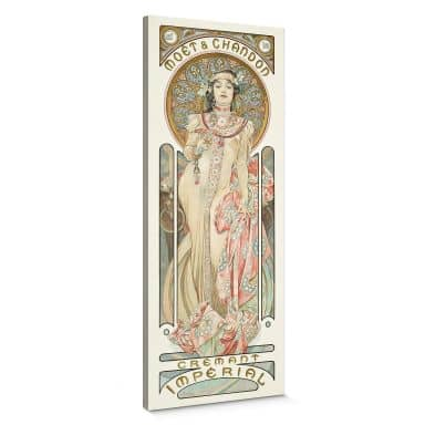Mucha - Moët and Chandon: Dry Imperial Canvas print panorama