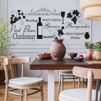 White Wine Wall sticker