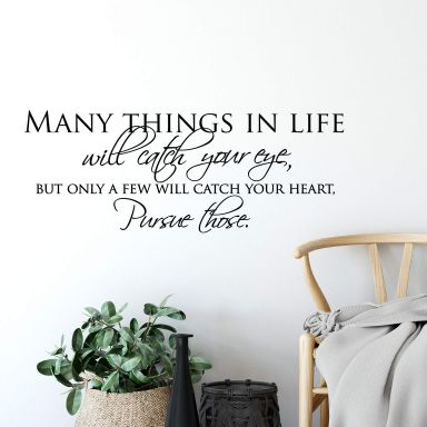 Many Things in Life Wall sticker
