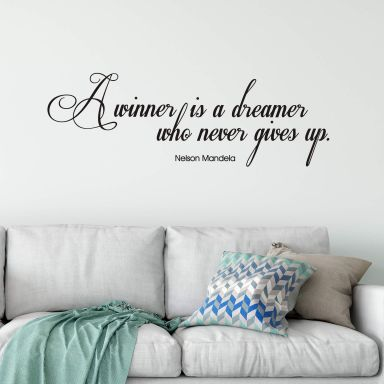 A winner is a dreamer... Wall sticker