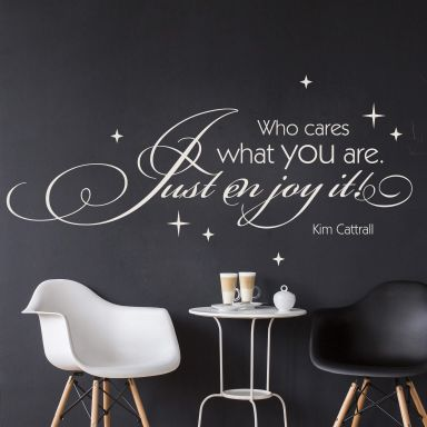 Who cares what you are... Wall sticker
