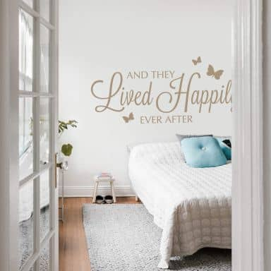 And they lived happily ever after Wall sticker