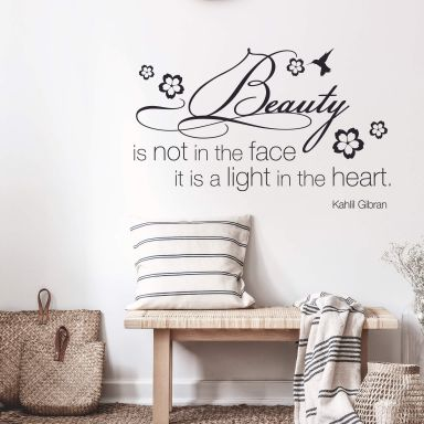 Sticker mural - Beauty is not in the face...