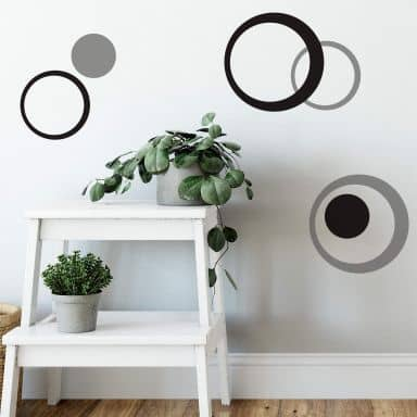 Sticker mural - Set Cercles