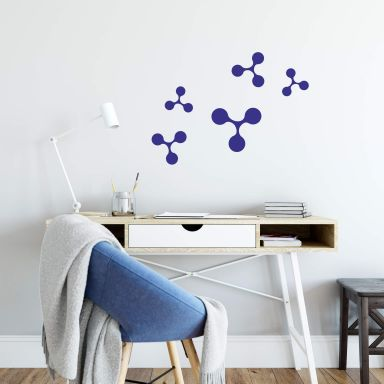 Sticker mural - Set Molécules