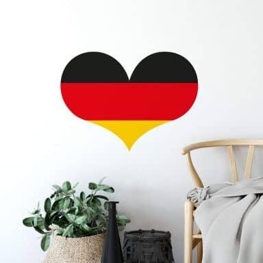 Wandtattoo Deutschland Herz