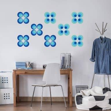 Retro Balls blue Wall sticker