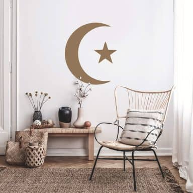 Crescent and Star Wall sticker