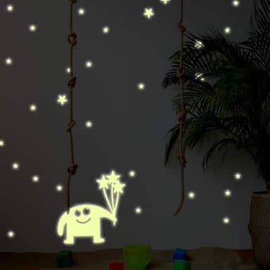 Sticker mural - Lumineux phosphorescents - Monstre