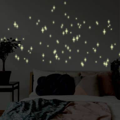 Romantic Stars Glow in the Dark stickers