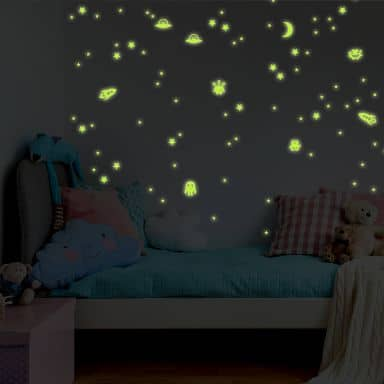 Glow in the Dark - Space Wall stickers
