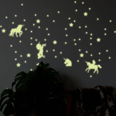 Wall Sticker Stars Unicorn Set