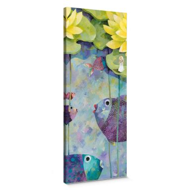 Canvas Print Blanz – Yellow Water Lilies  panorama