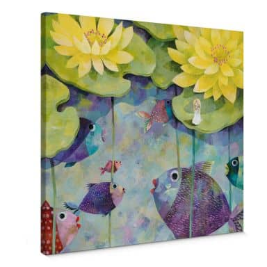 Canvas Print Blanz – Yellow Water Lilies – square