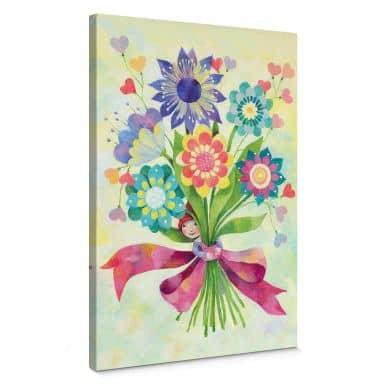 Leinwandbild Blanz - Blumenstrauß