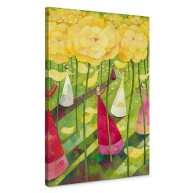 Leinwandbild Blanz - Blumenwiese