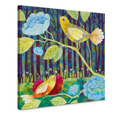 Leinwandbild Blanz - Vögel im Wald