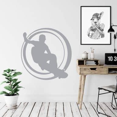 Sticker mural - Skate-Boardeur