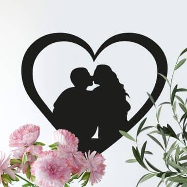 Kissing Heart Wall sticker