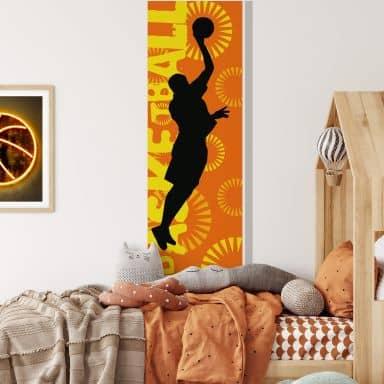 Wandtattoo Basketball Banner