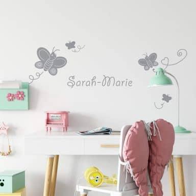 Butterflies + Name Wall sticker