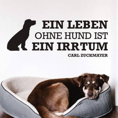 Wandtattoo Ein Leben ohne Hund...