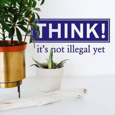 Think! Wall sticker