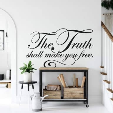 The Truth Shall Make You Free Wall sticker