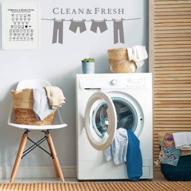 Muursticker Clean and Fresh