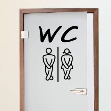 Sticker mural - WC