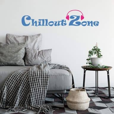 Muursticker Chillout Zone 2 (2-kleurig)