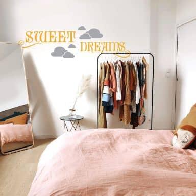 Muursticker Sweet Dreams (2-kleurig)
