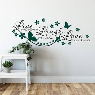 Live every Moment… 2 (2-colours) Wall sticker